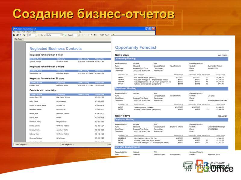 Создание бизнес-отчетов
