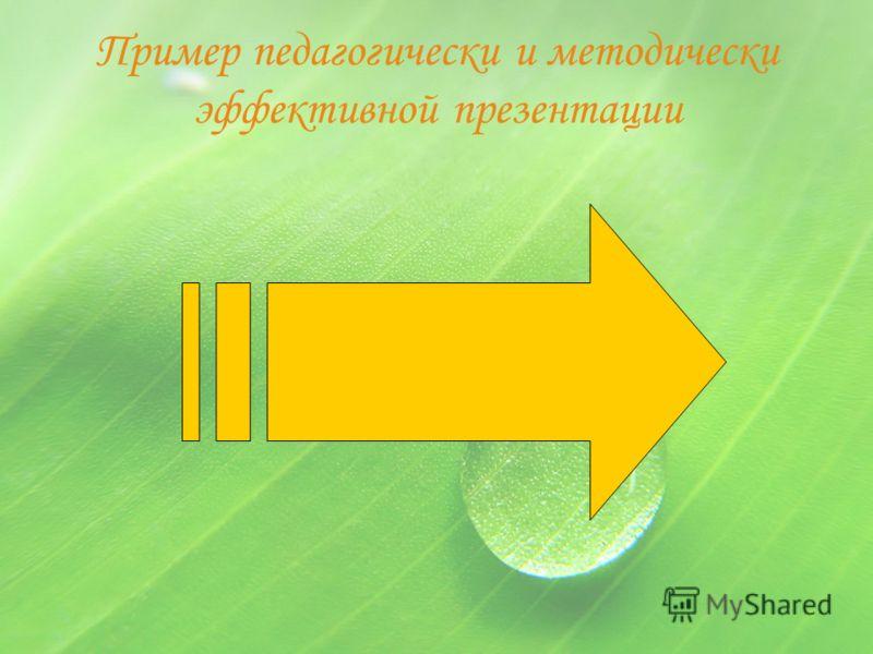 Пример педагогически и методически эффективной презентации