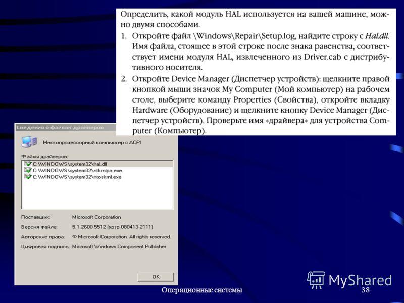 Операционные системы38
