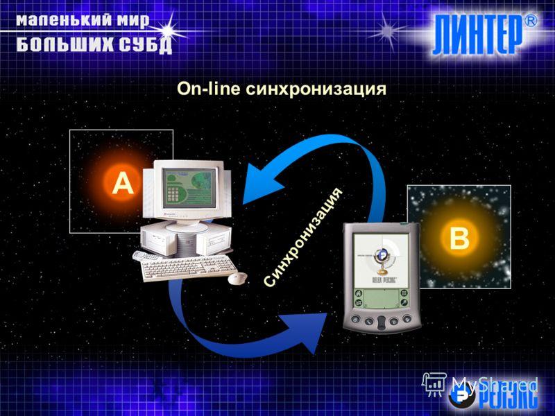 On-line синхронизация А В Синхронизация