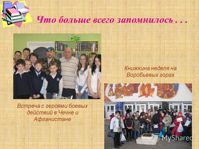 Что больше всего запомнилось... Встреча с героями боевых действий в Чечне и Афганистане Книжкина неделя на Воробьевых горах