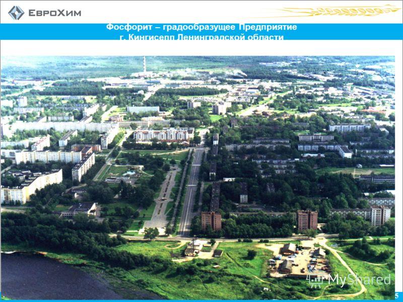 5 Фосфорит – градообразущее Предприятие г. Кингисепп Ленинградской области