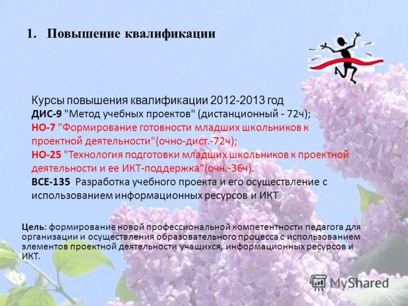 Курсы повышения квалификации 2012-2013 год ДИС-9