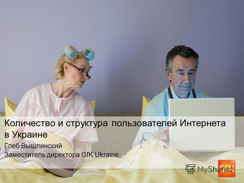 Количество и структура пользователей Интернета в Украине Глеб Вышлинский Заместитель директора GfK Ukraine