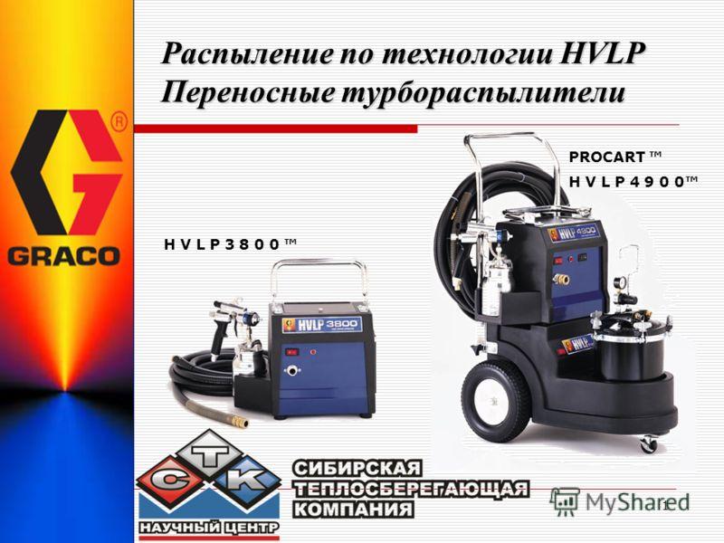 1 Распыление по технологии HVLP Переносные турбораспылители PROCART H V L P 3 8 0 0 H V L P 4 9 0 0