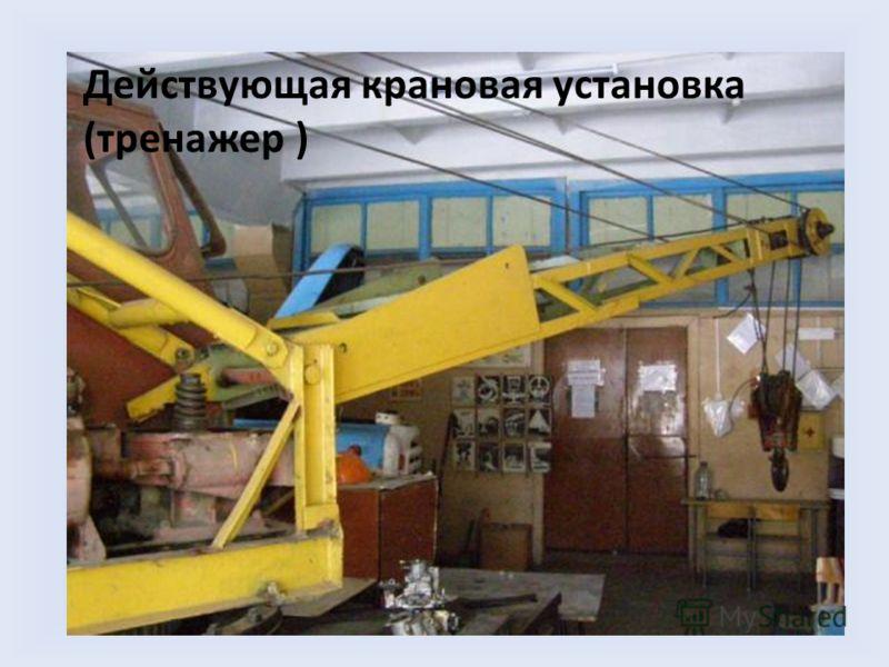 Действующая крановая установка (тренажер )