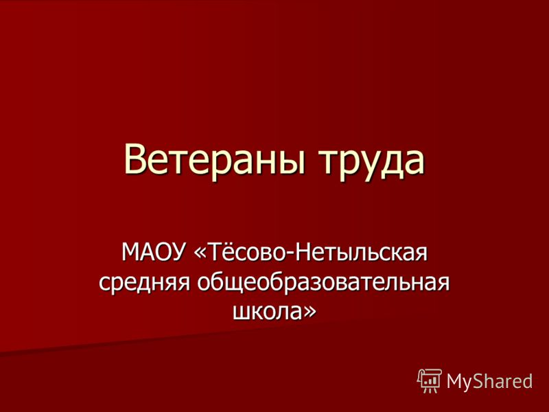 Ветераны труда МАОУ «Тёсово-Нетыльская средняя общеобразовательная школа»
