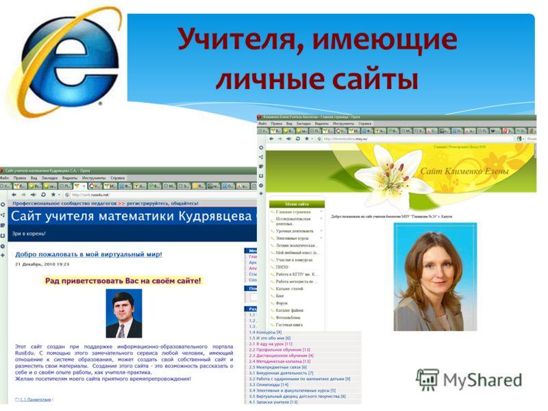 Учителя, имеющие личные сайты