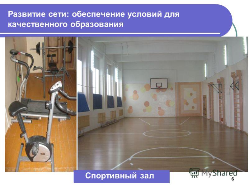6 Развитие сети: обеспечение условий для качественного образования Спортивный зал