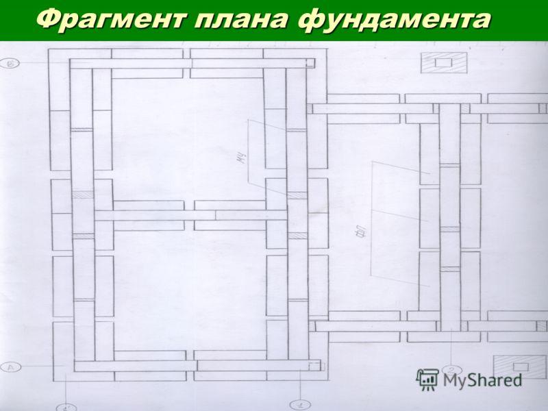 Фрагмент плана фундамента