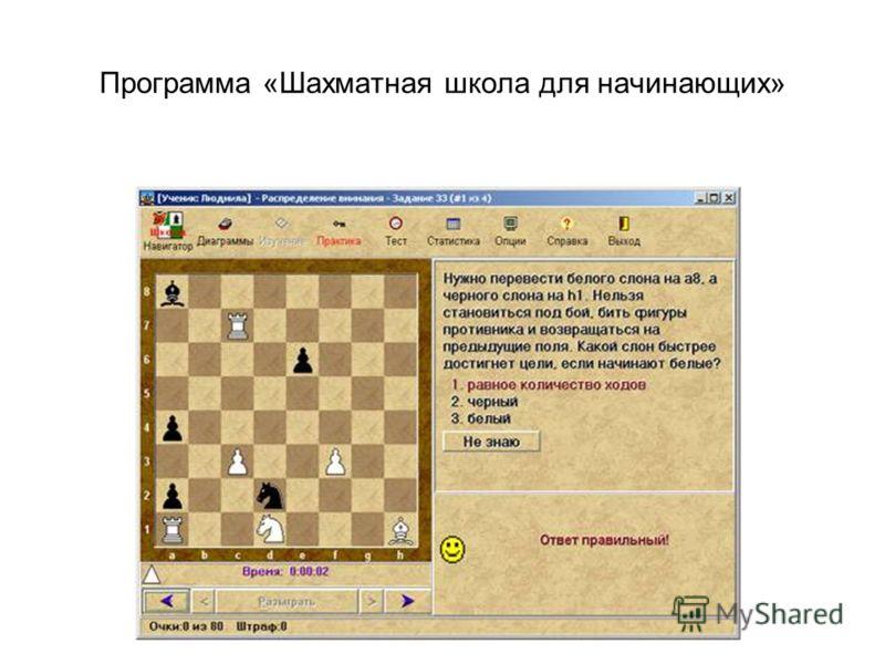 Программа «Шахматная школа для начинающих»