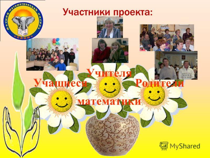Участники проекта: Учащиеся Родители Учителя математики