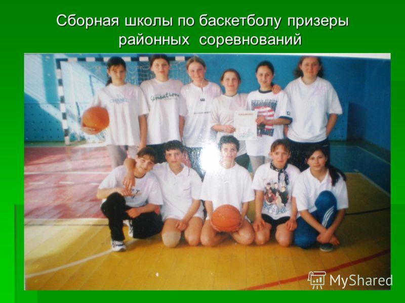 Сборная школы по баскетболу призеры районных соревнований