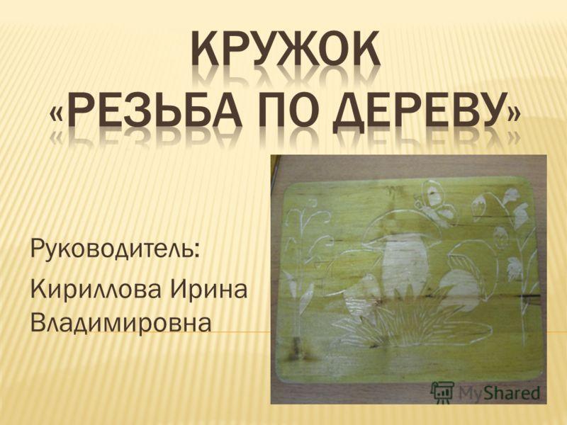 Руководитель: Кириллова Ирина Владимировна