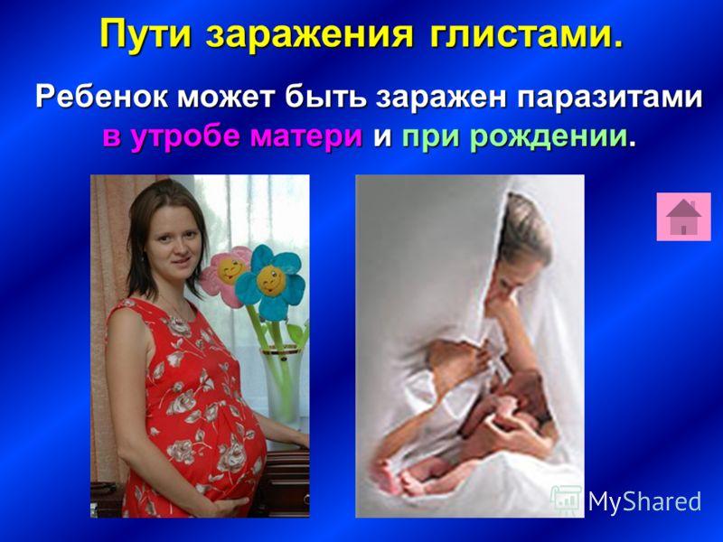 Пути заражения глистами. Ребенок может быть заражен паразитами в утробе матери и при рождении. Ребенок может быть заражен паразитами в утробе матери и при рождении.