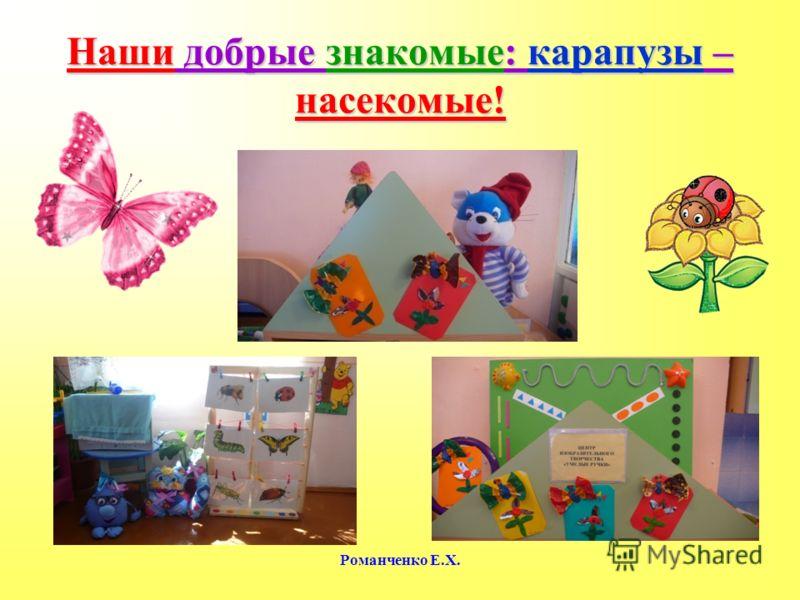Романченко Е.Х. Наши добрые знакомые: карапузы – насекомые!