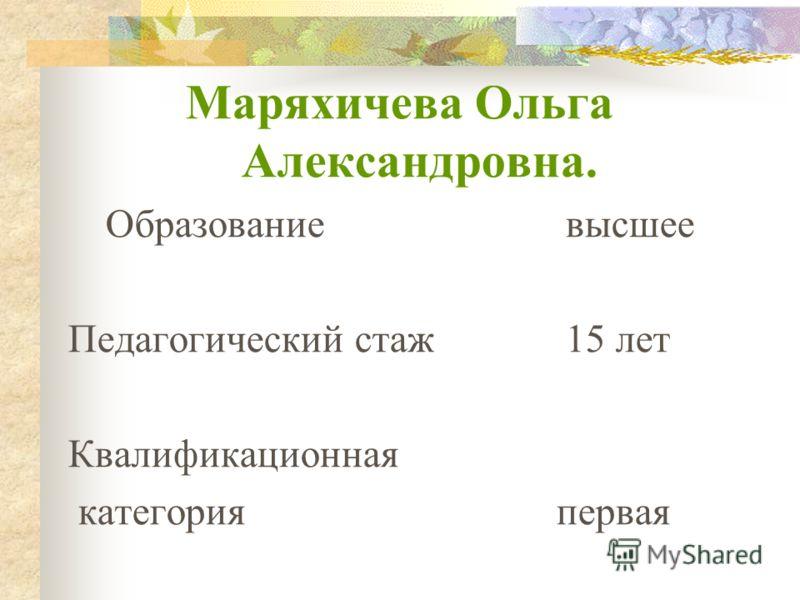 Методическое портфолио учителя МОУ СОШ п. Опытный