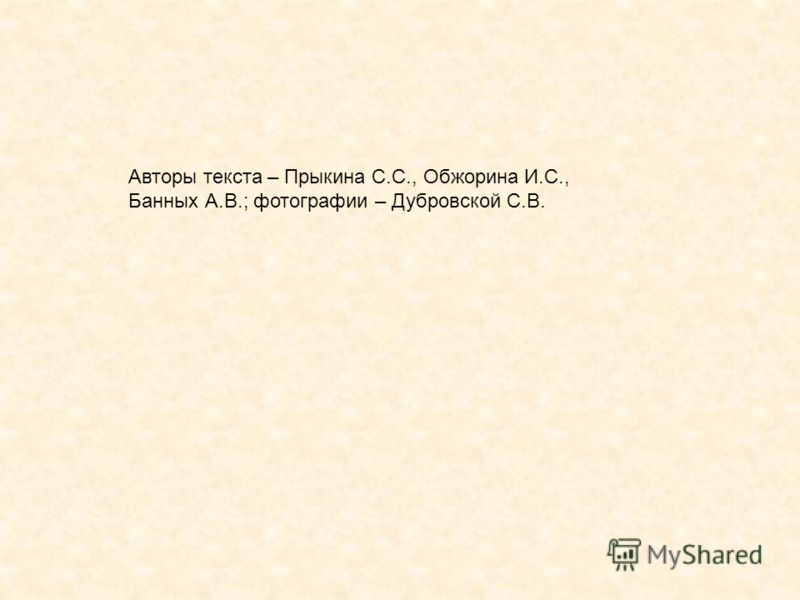 Авторы текста – Прыкина С.С., Обжорина И.С., Банных А.В.; фотографии – Дубровской С.В.