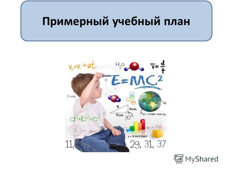Примерный учебный план