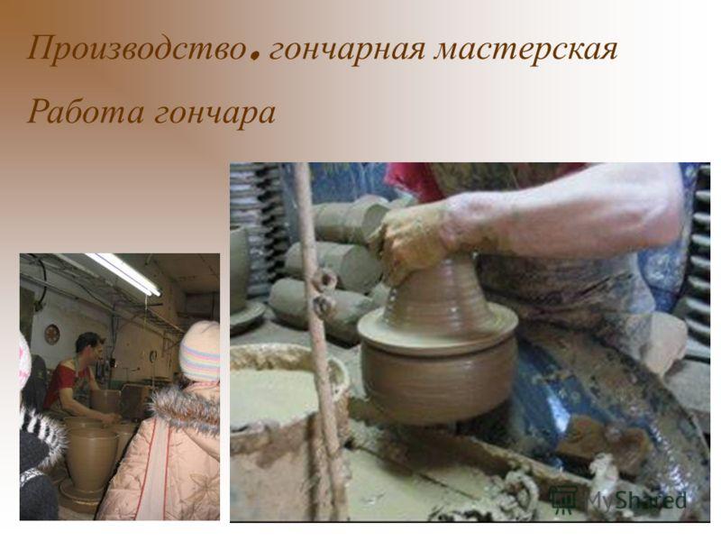 Производство, гончарная мастерская Работа гончара