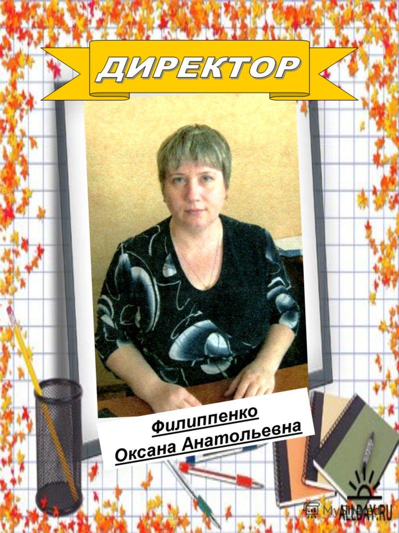 Филиппенко Оксана Анатольевна