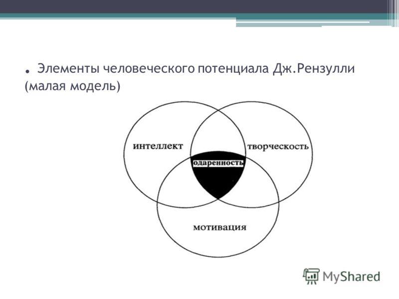 . Элементы человеческого потенциала Дж.Рензулли (малая модель)