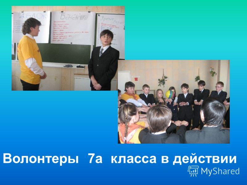 Волонтеры 7а класса в действии