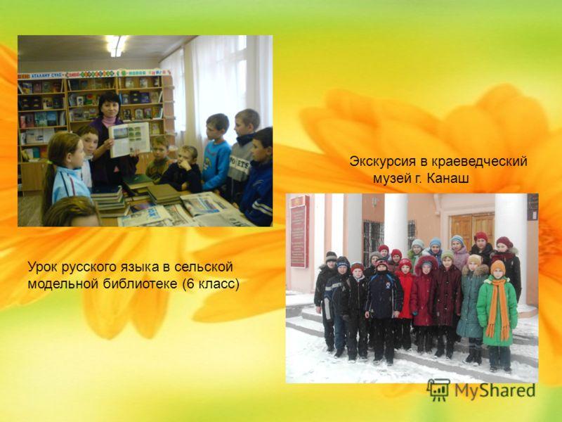 Урок русского языка в сельской модельной библиотеке (6 класс) Экскурсия в краеведческий музей г. Канаш