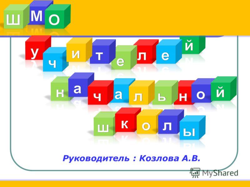 Руководитель : Козлова А.В.