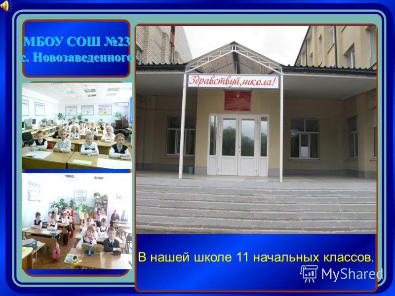 МБОУ СОШ 23 с. Новозаведенного В нашей школе 11 начальных классов.