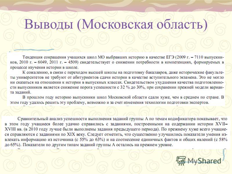 Выводы (Московская область)