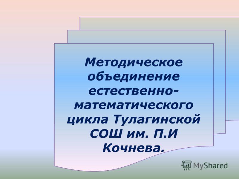Методическое объединение естественно- математического цикла Тулагинской СОШ им. П.И Кочнева.