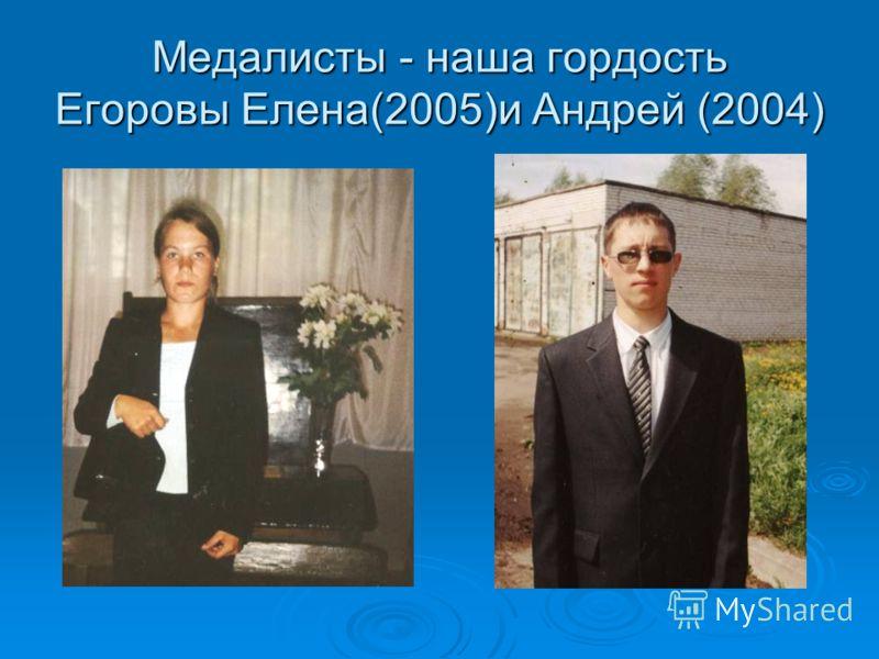 Медалисты - наша гордость Егоровы Елена(2005)и Андрей (2004)