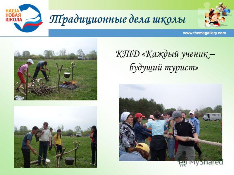 Традиционные дела школы www.themegallery.com КТД «Каждый ученик – будущий турист»