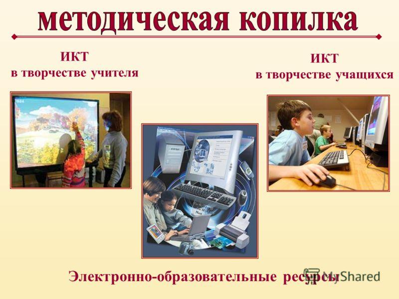 Электронно-образовательные ресурсы ИКТ в творчестве учителя ИКТ в творчестве учащихся