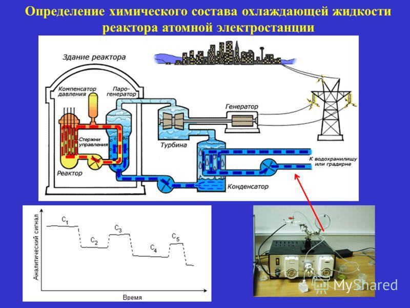 Определение химического состава охлаждающей жидкости реактора атомной электростанции
