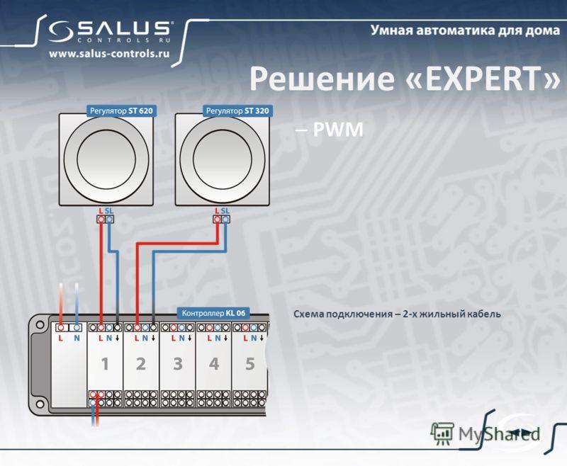 Схема подключения – 2-х жильный кабель Решение «EXPERT» – PWM
