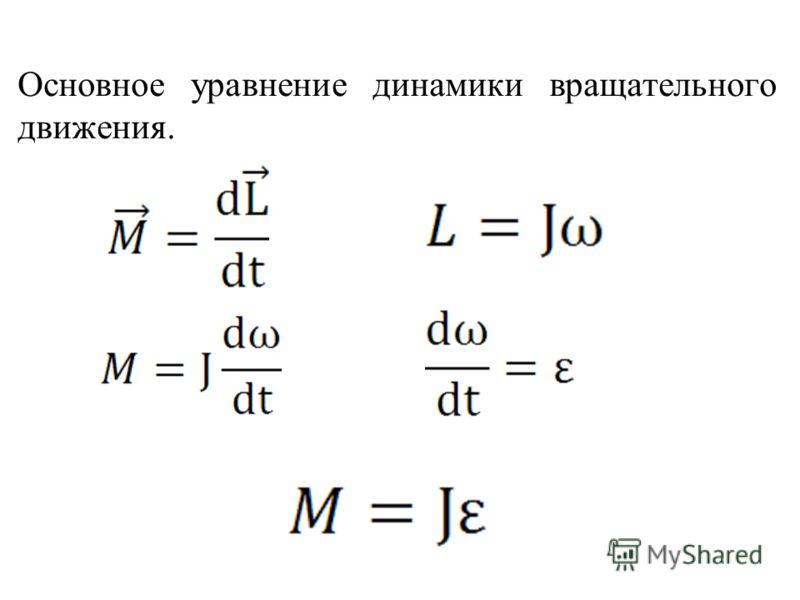 Основное уравнение динамики вращательного движения.