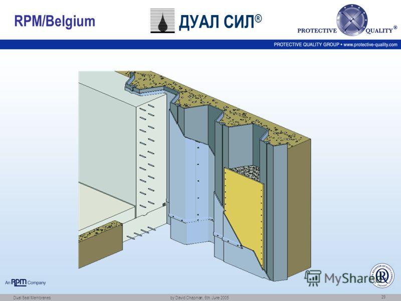 Dual Seal Membranes by David Chapman, 6th. June 2005 29 RPM/Belgium ДУАЛ СИЛ ®