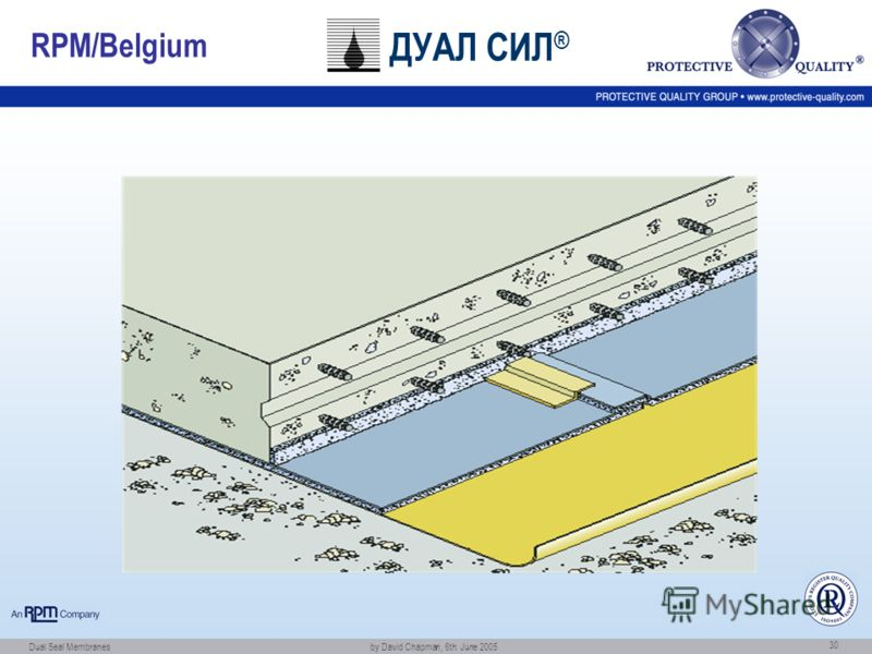 Dual Seal Membranes by David Chapman, 6th. June 2005 30 RPM/Belgium ДУАЛ СИЛ ®