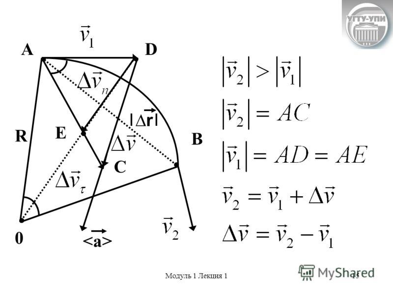 Модуль 1 Лекция 115 А R D B C 0 E r