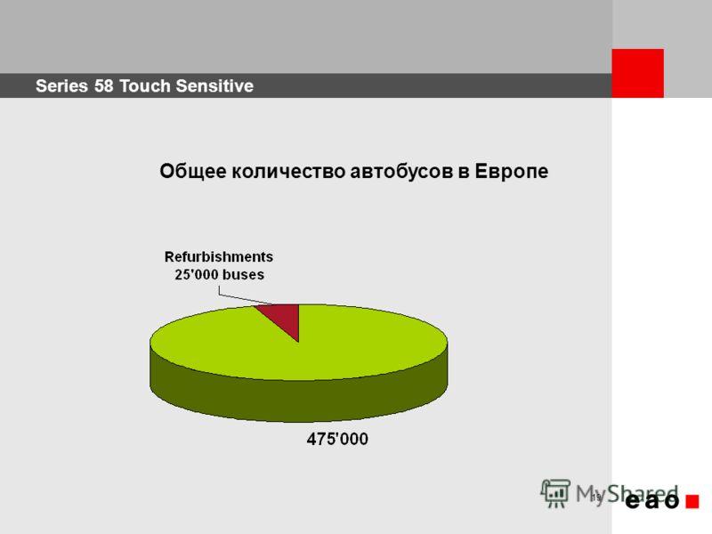 Series 58 Touch Sensitive 19 Общее количество автобусов в Европе