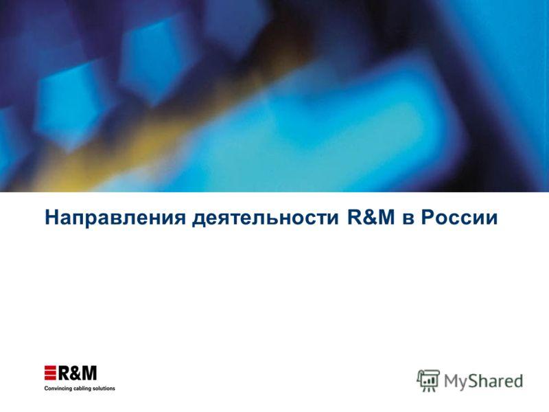 Направления деятельности R&M в России
