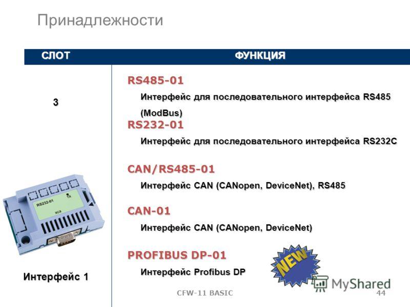 CFW-11 BASIC43 Интерфейс для импульсного энкодера 5 - 12 В постоянного тока, 100 кГц с усилителем Импульсный энкодер СЛОТФУНКЦИЯ 2 ENC-01 Интерфейс для импульсного энкодера 5 - 12 В постоянного тока, 100 кГц ENC-02 Принадлежности