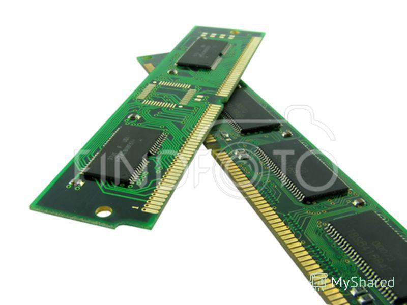 Внутренняя память Адресуемость Байт памяти – наименьшая адресуемая часть внутренней памяти (1 байт = 8 бит). Все байты пронумерованы, начиная с 0. Номер байта – адрес байта памяти. Процессор обращается к памяти по адресам. Дискретность Наименьшим эле