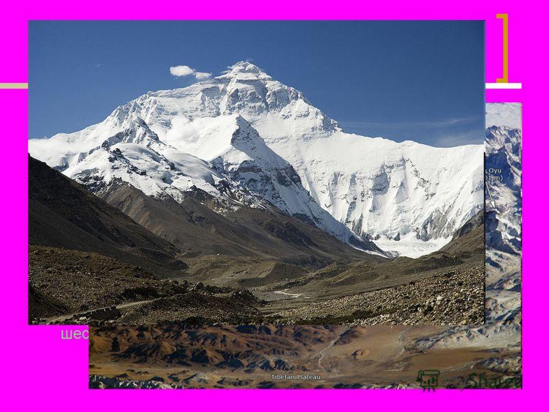 Пример неправильно оформленного слайда Находится в Гималаях и расположена на границе (самая высокая в мире) Непала и Китая (Тибетский автономный район), сама вершина лежит на территории Китая. Имеет форму пирамиды; южный склон более крутой. На южном