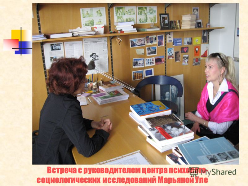 Встреча с руководителем центра психолого- социологических исследований Марьяной Уле