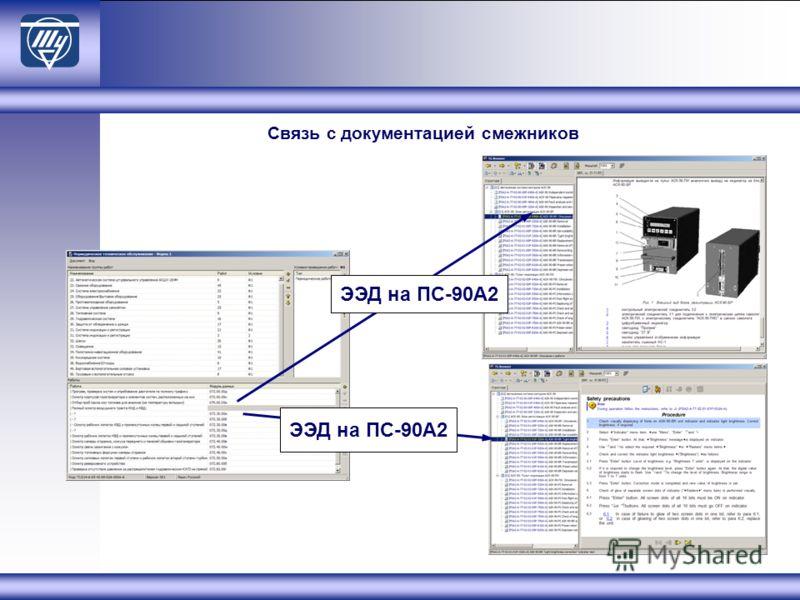 Связь с документацией смежников ЭЭД на ПС-90А2