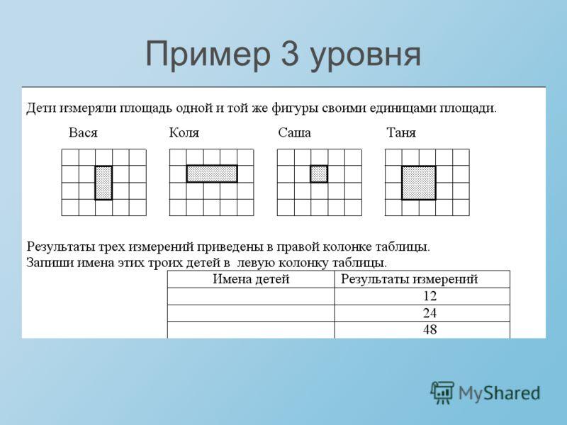 Пример 3 уровня