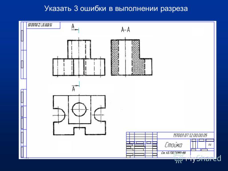 В кадре на разрезе пропущена горизонтальная линия видимого контура.